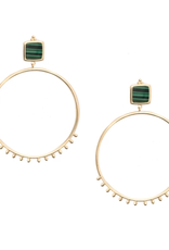 Channing Hoops - Malachite