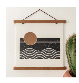 The Moon and Her Waves Print