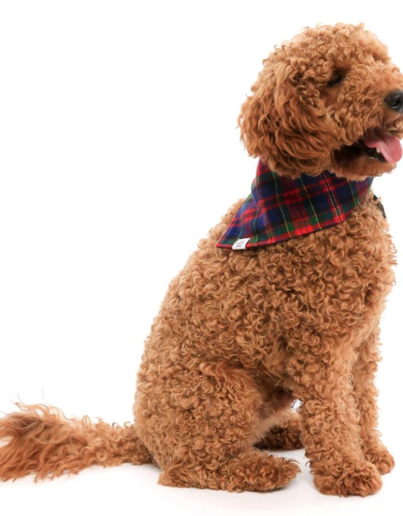 Noel Plaid Flannel Dog Bandana