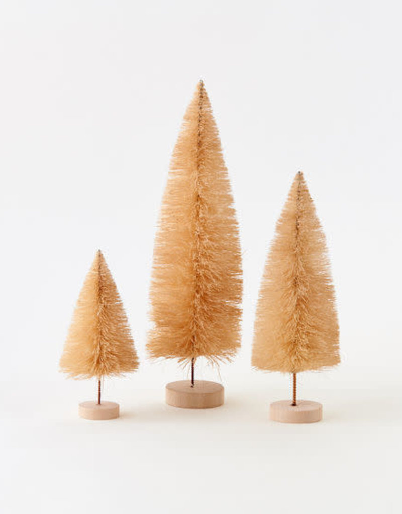 Natural Sisal Tree with Wood Base - Set of Three