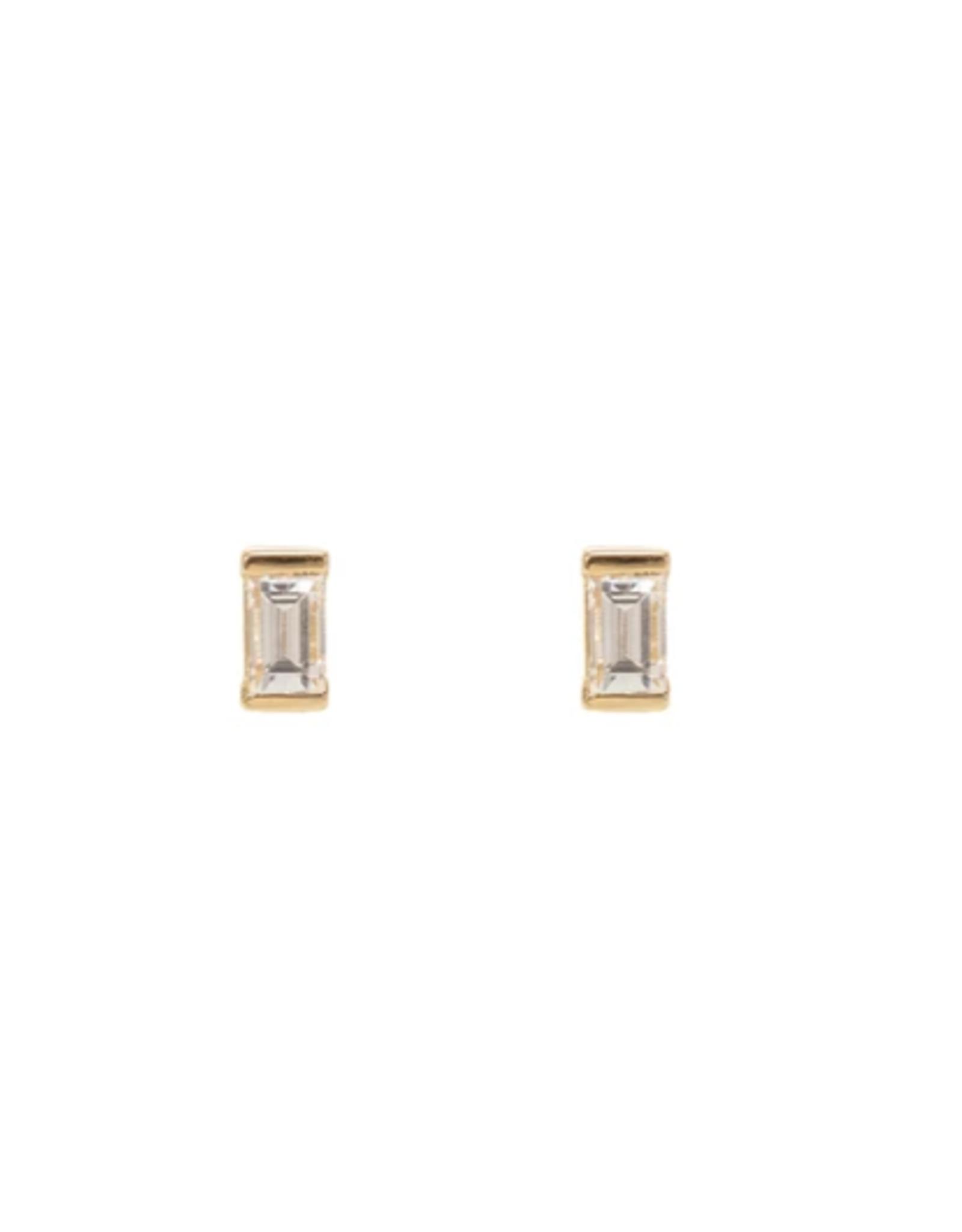 CZ Baguette Diamond Earrings