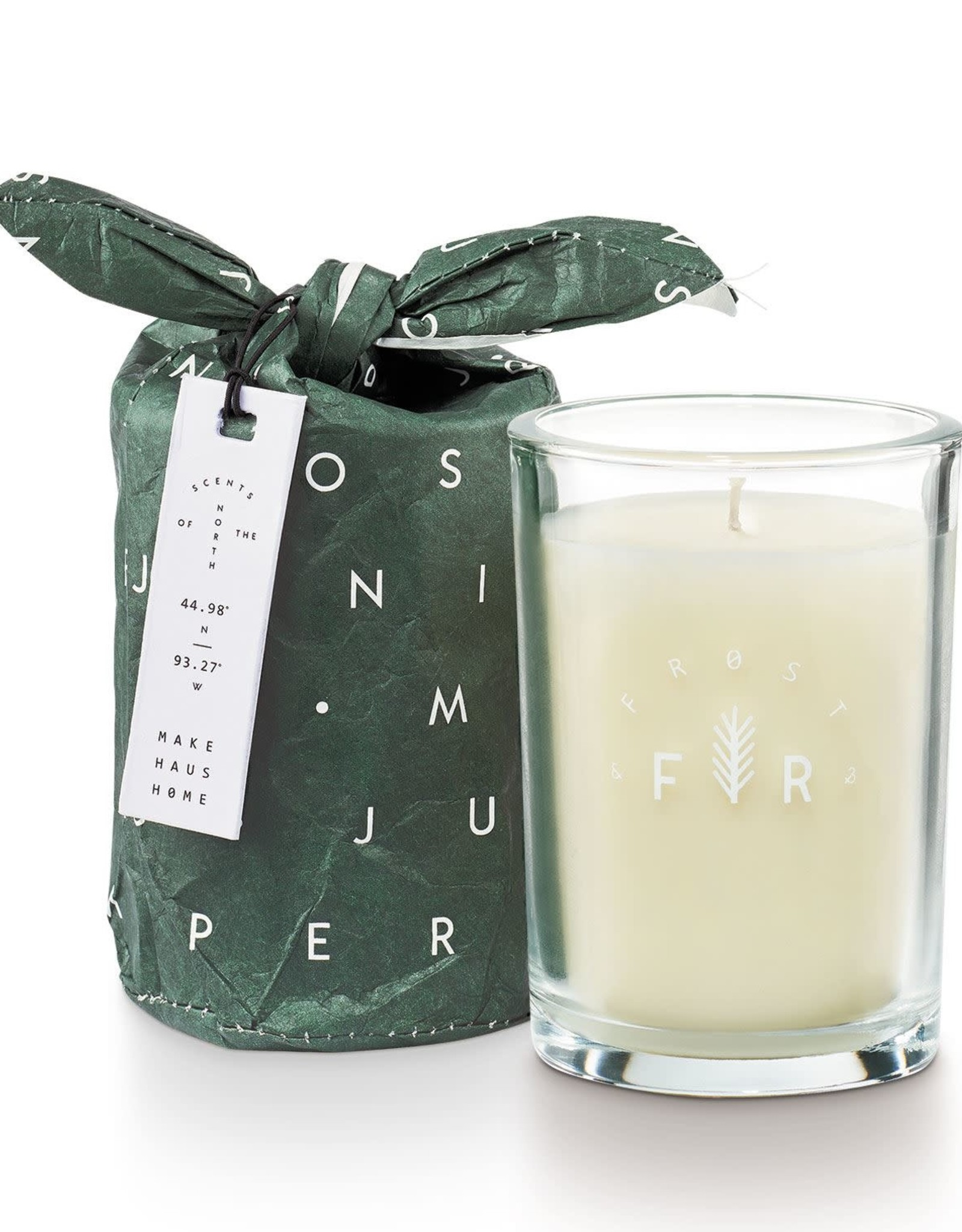 Juniper Moss Bundled Glass Candle