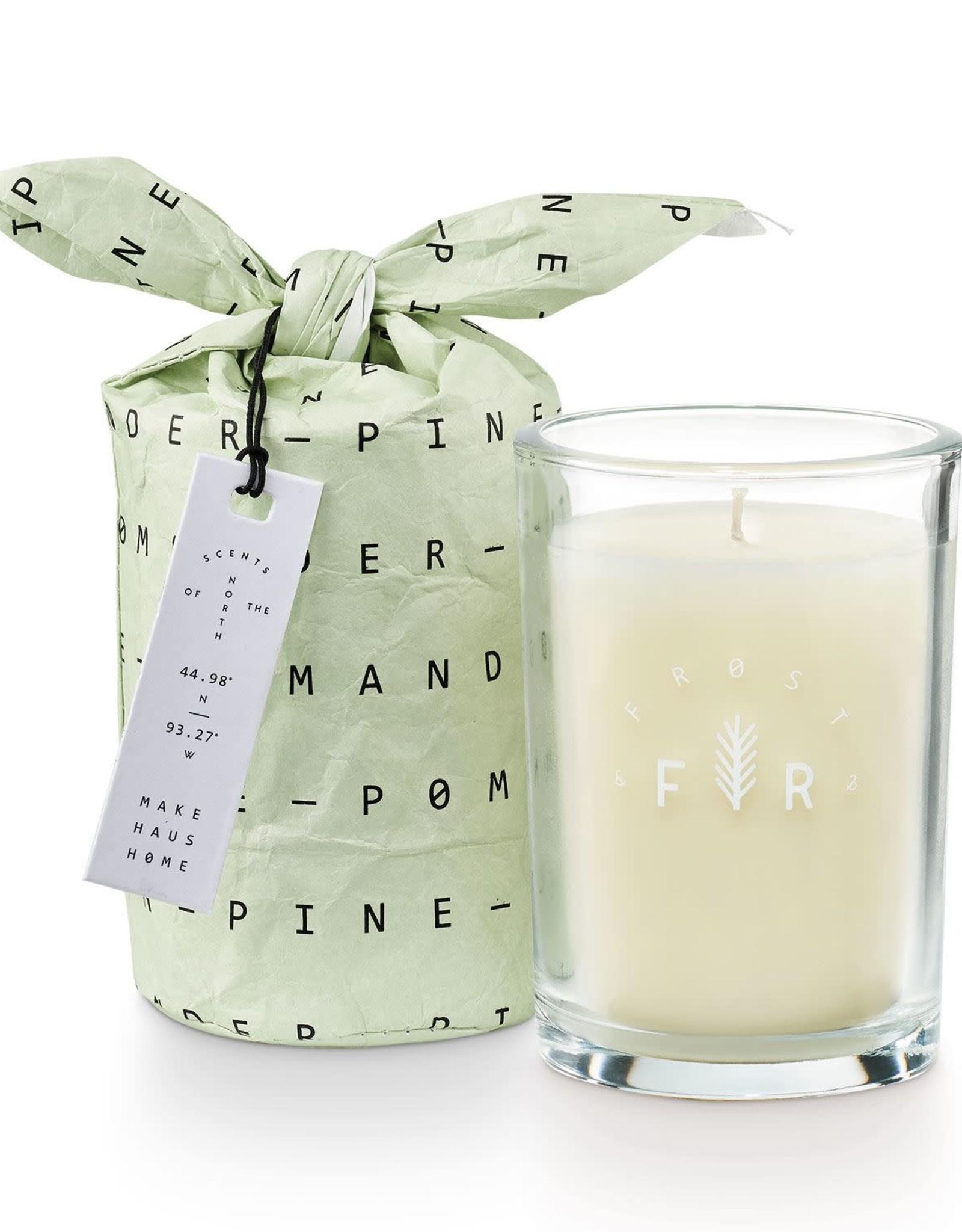 Pomander Pine Bundled Glass Candle