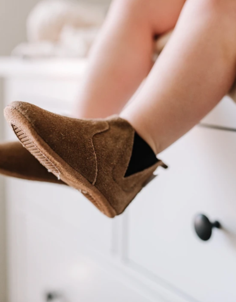 Brown Suede Chelsea Boot