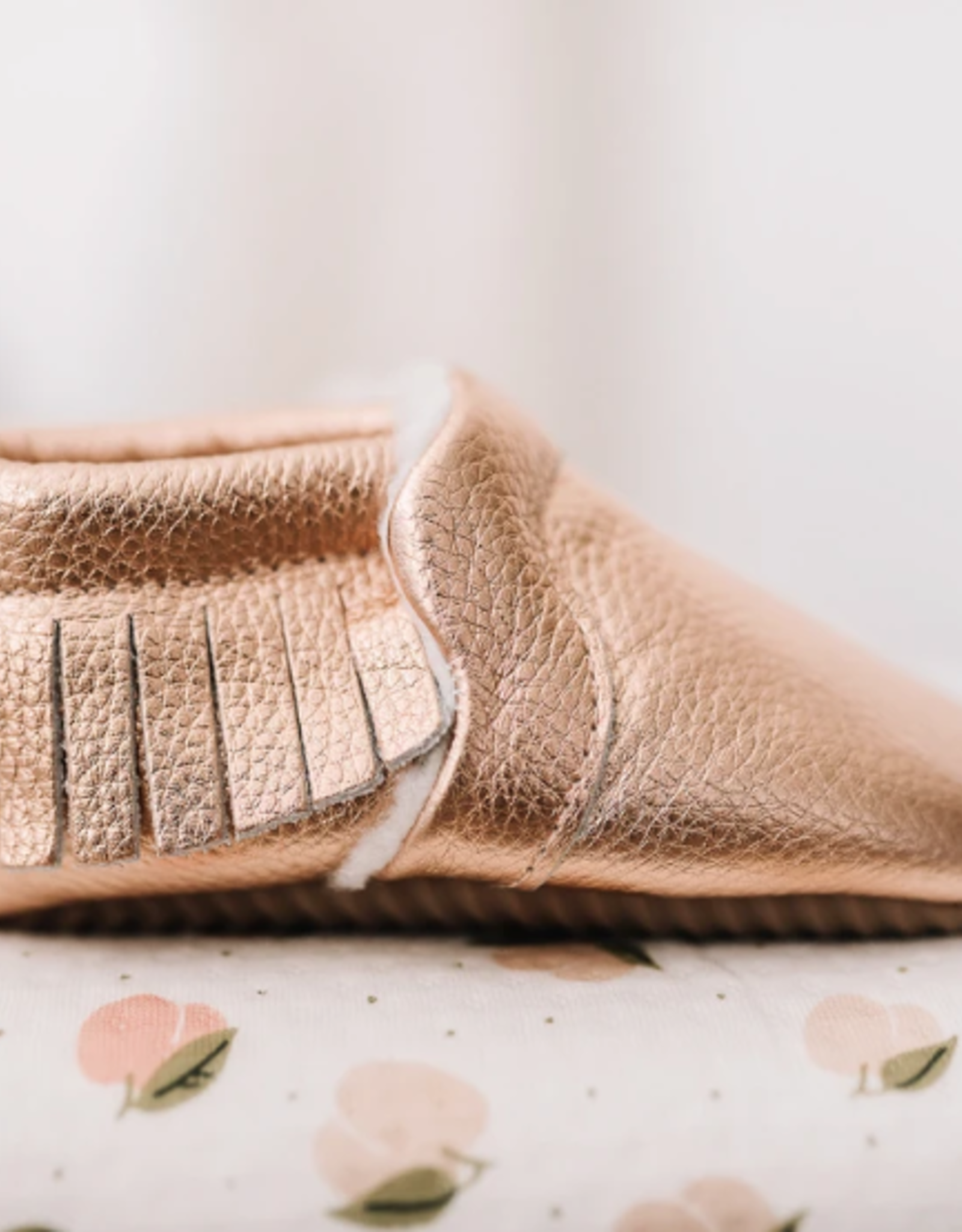 Rose Gold Snuggly Moccasin