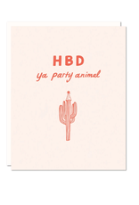HBD Party Animal Card