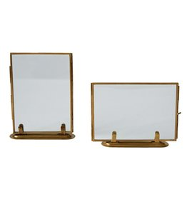 Brass & Glass Frame - Vertical