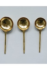 Gold Finish Spoons - Set of 3