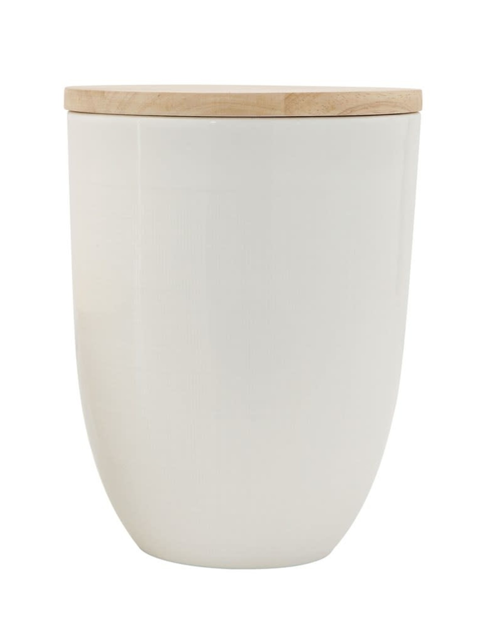 Ceramic Canister with Wood Lid