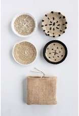 Round Hand-Woven Natural Seagrass Coasters