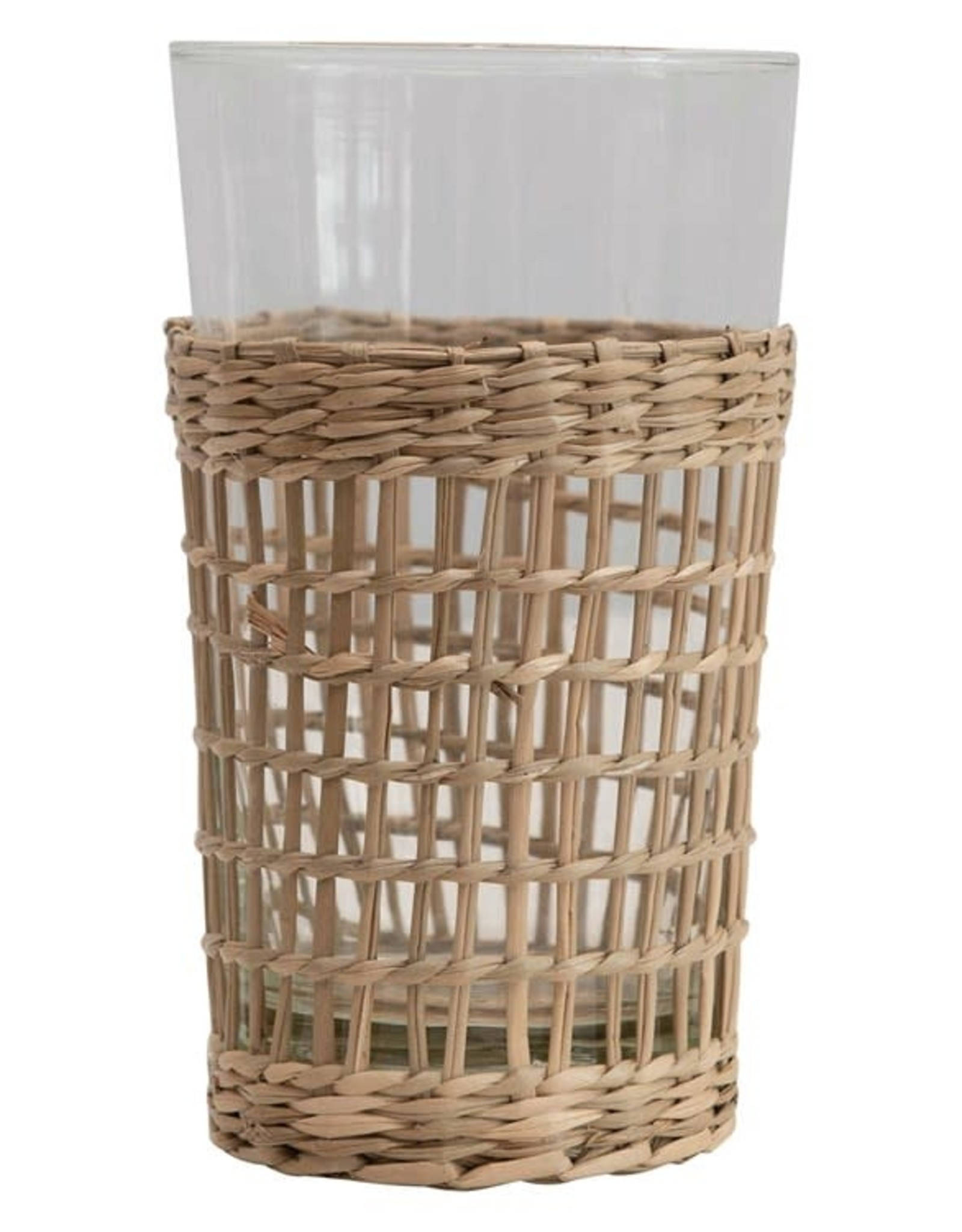 Seagrass Sleeve Drinking Glass - 12 oz.