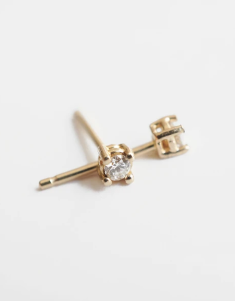 14K Mini Diamond Studs