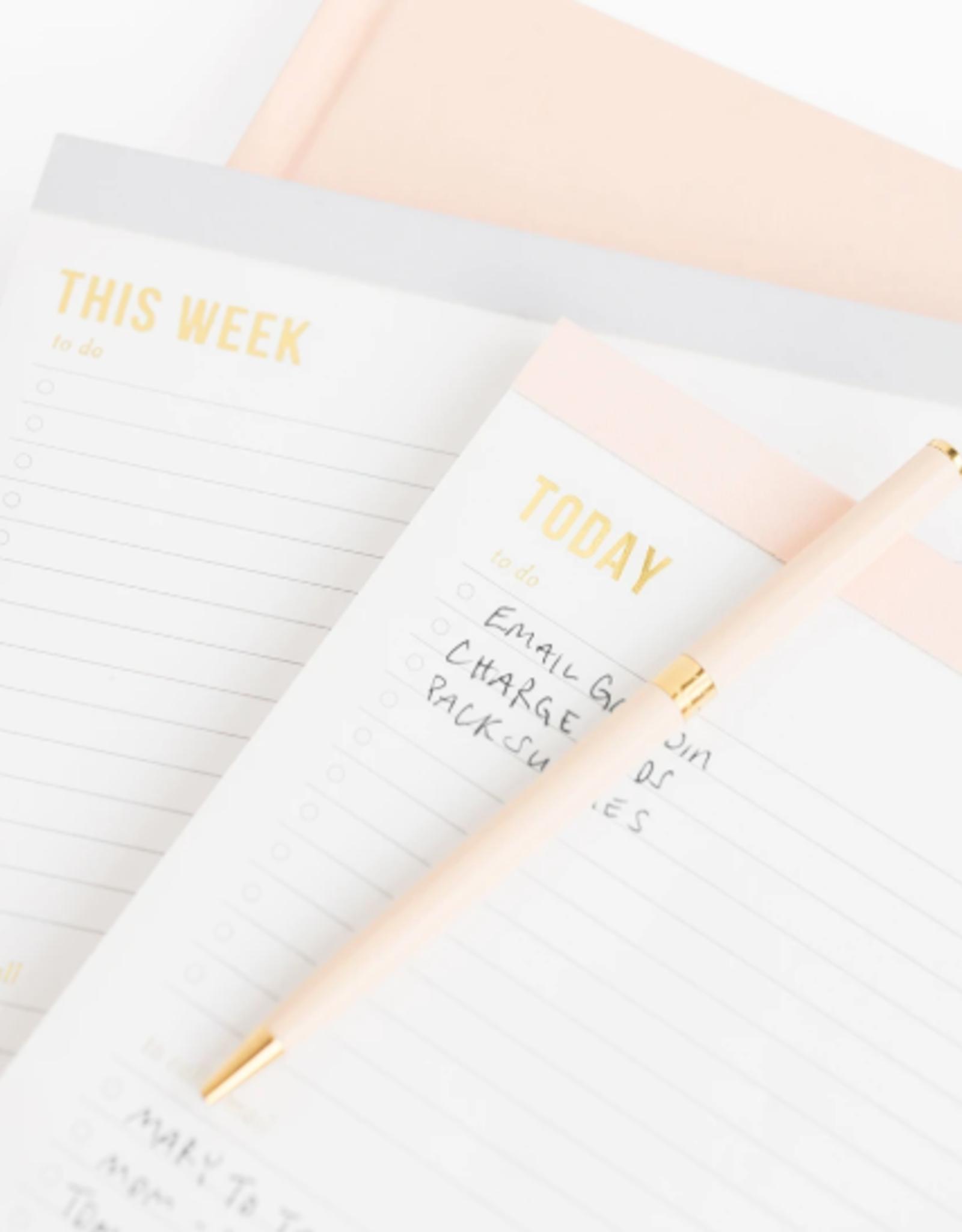 Weekly Pad - Large - Pink