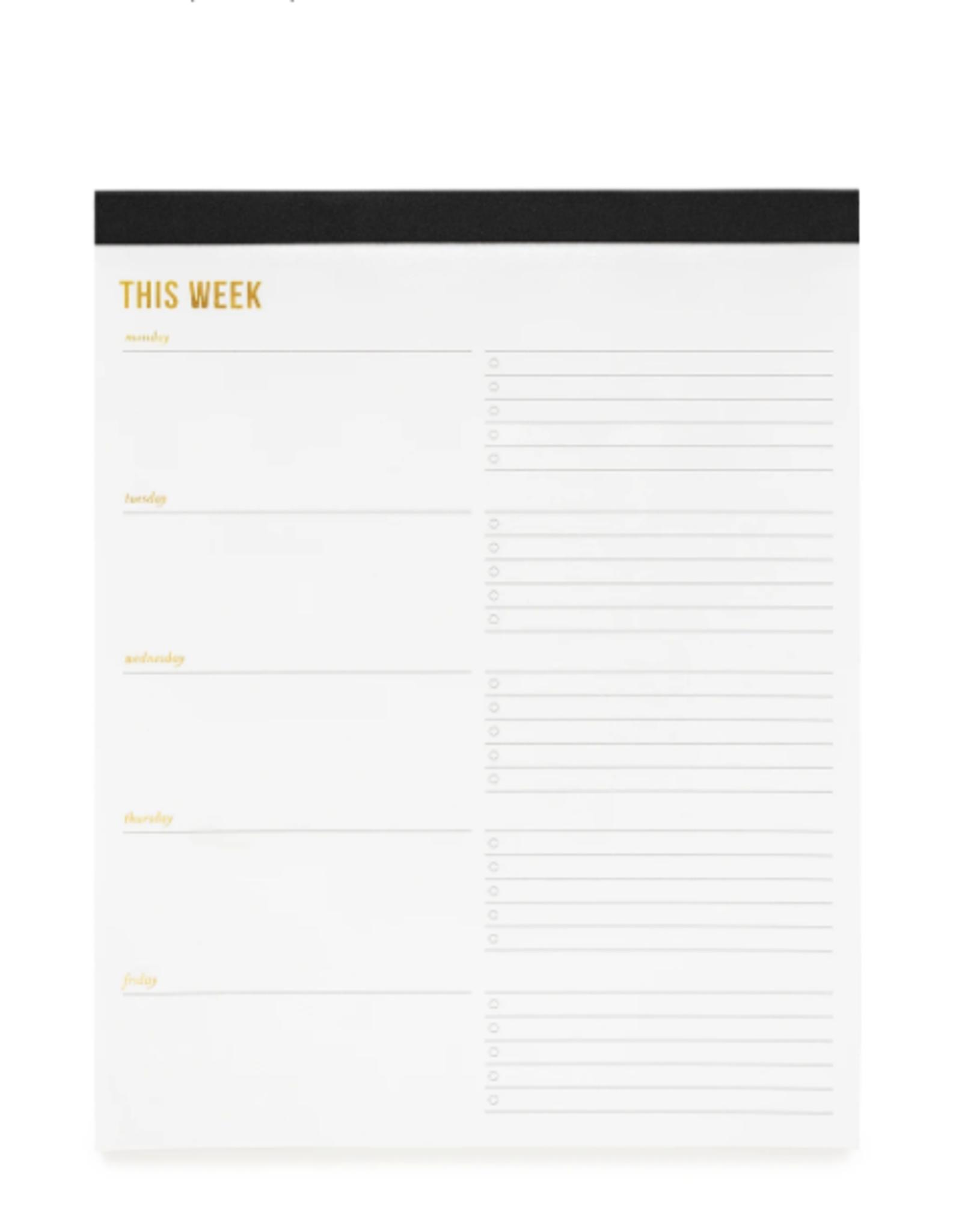 Weekly Pad - Large - Black
