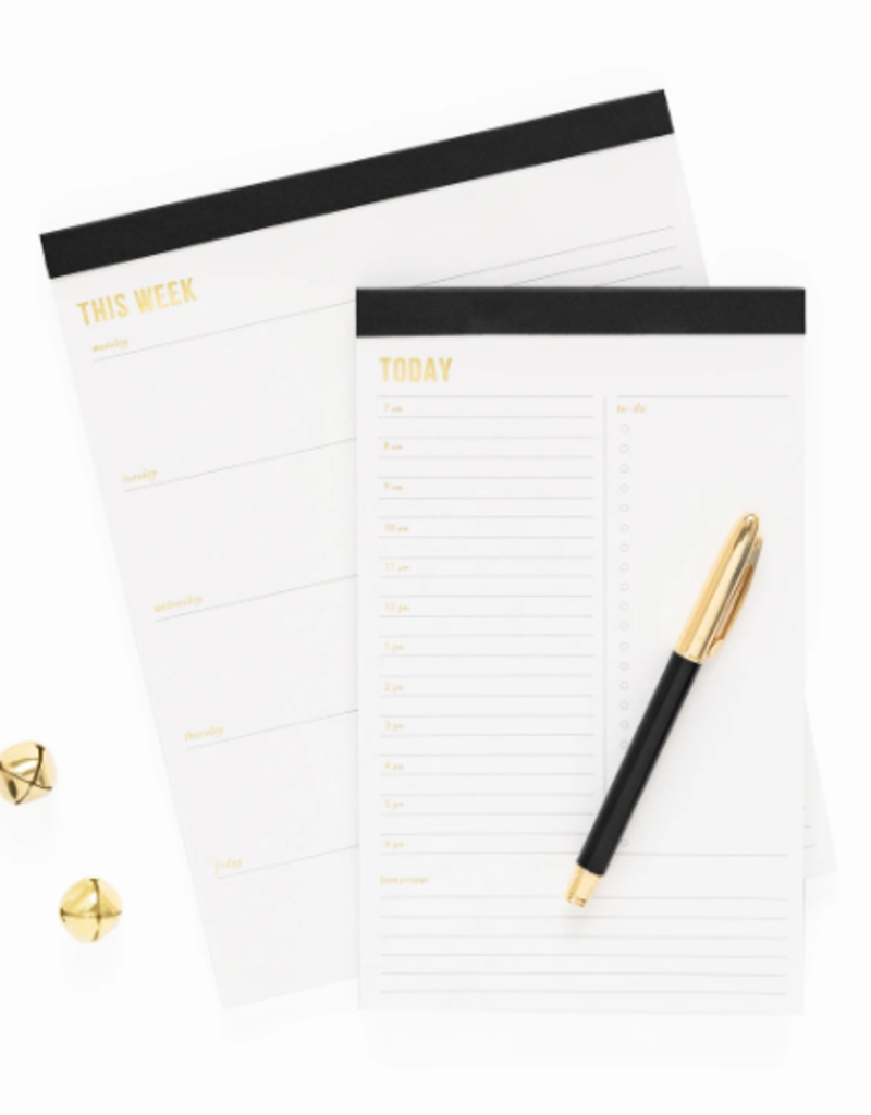 Weekly Pad - Large - Black