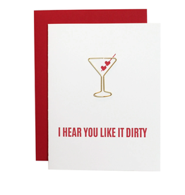 I Hear You Like It Dirty Paper Clip Card