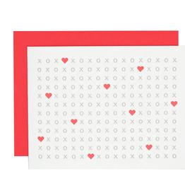 XOXO Heart Letterpress Card