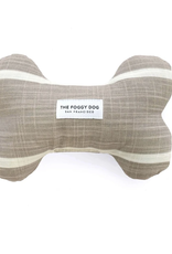 Modern Stripe Warm Stone Dog Bone Squeaky Toy