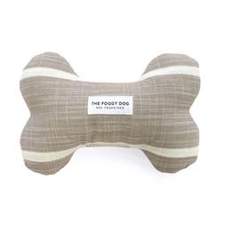 Modern Stripe Warm Stone Dog Bone Squeaky Toy