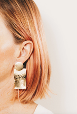 Nessa Circle and Rectangle Drop Earrings