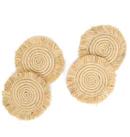 Fringed Raffia Coasters