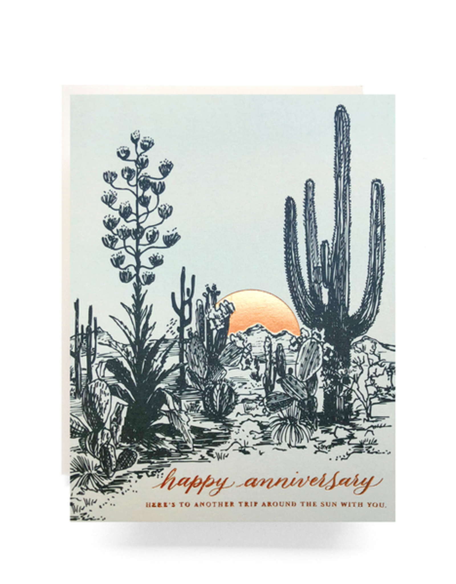 Cactus Sunset Anniversary Card