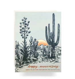 Cactus Sunset Anniversary Card
