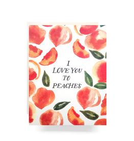 Love You to Peaches Card