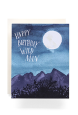 Antiquaria Wild Man Birthday Greeting Card