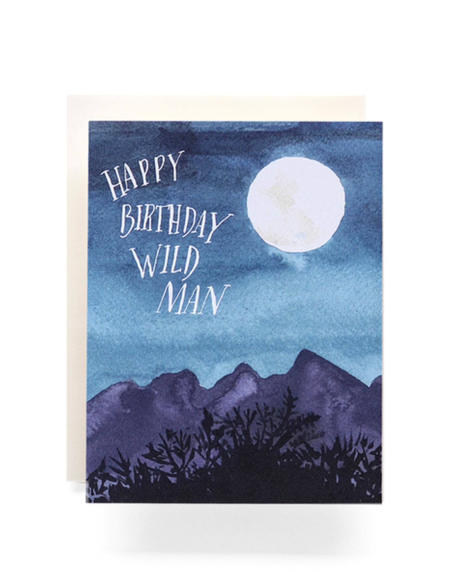 Antiquaria Wild Man Birthday Card