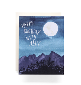 Antiquaria Wild Man Birthday Greeting Card