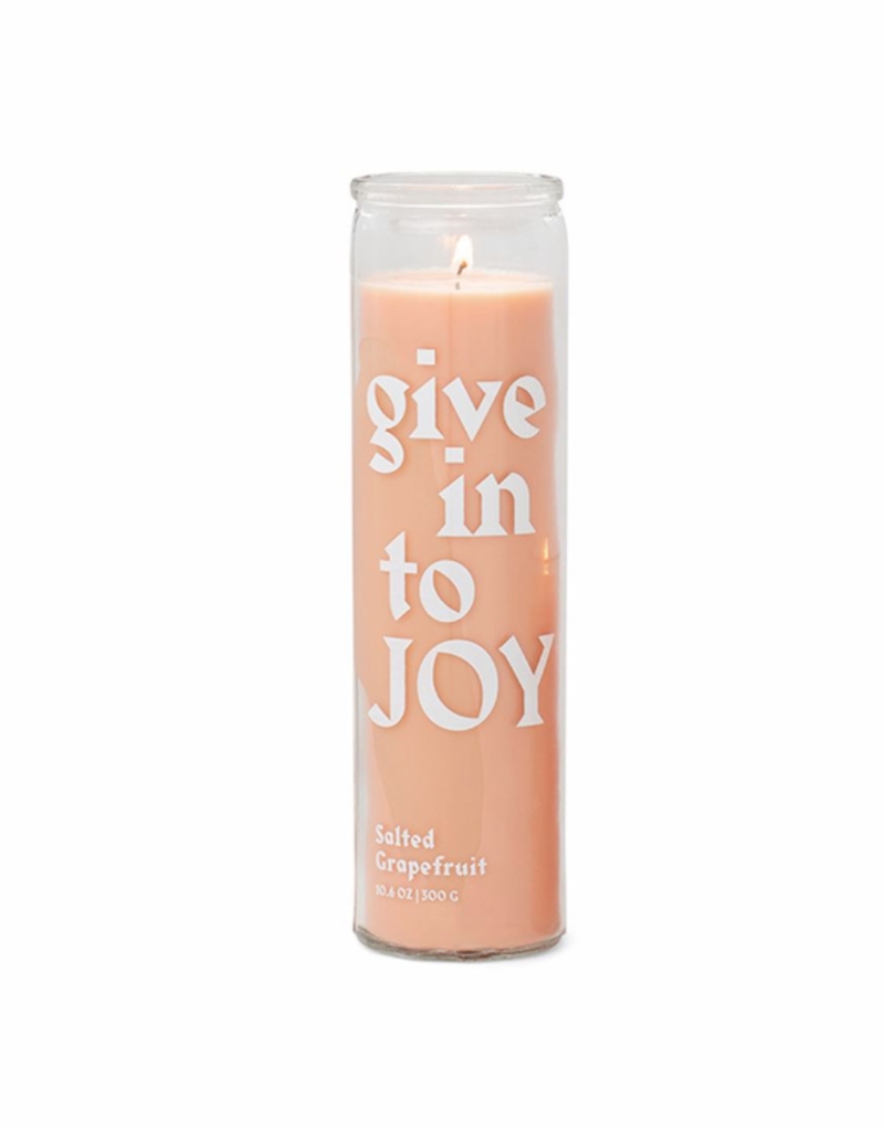 Give In To Joy Prayer Candle
