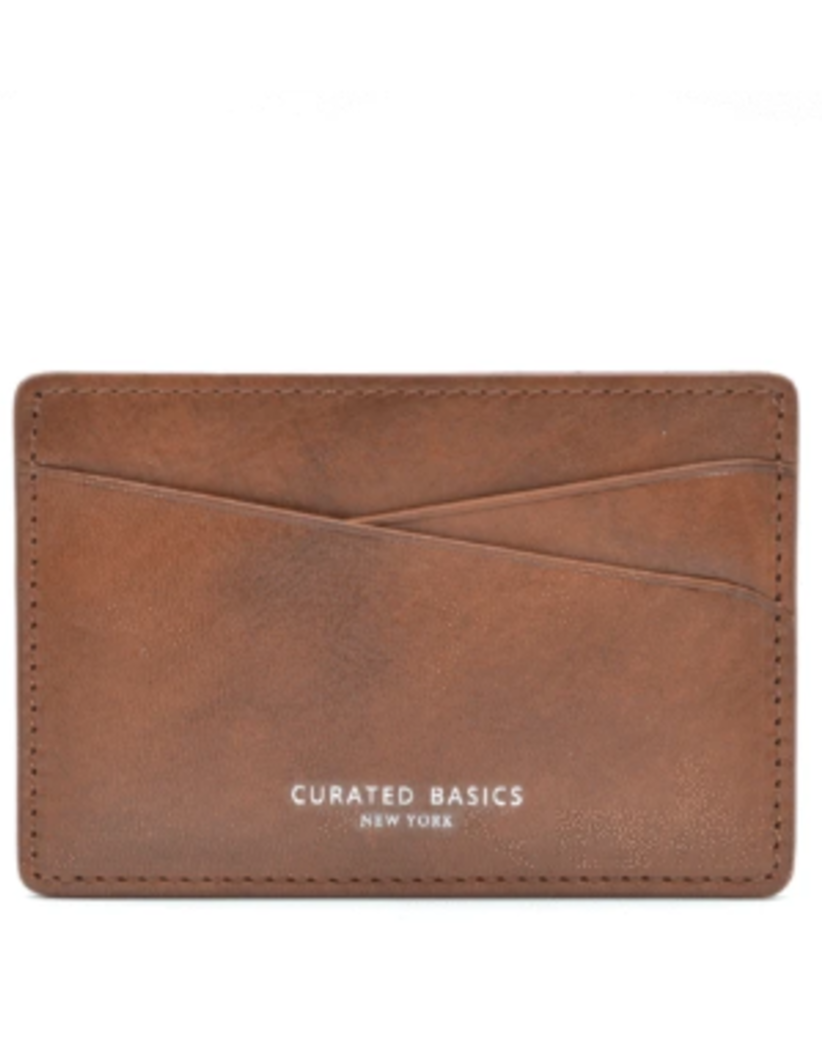 Cognac Brown Leather Cardholder