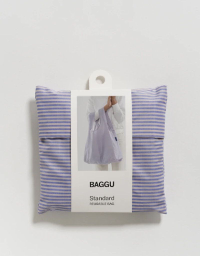 Standard Baggu - Blue Microstripe