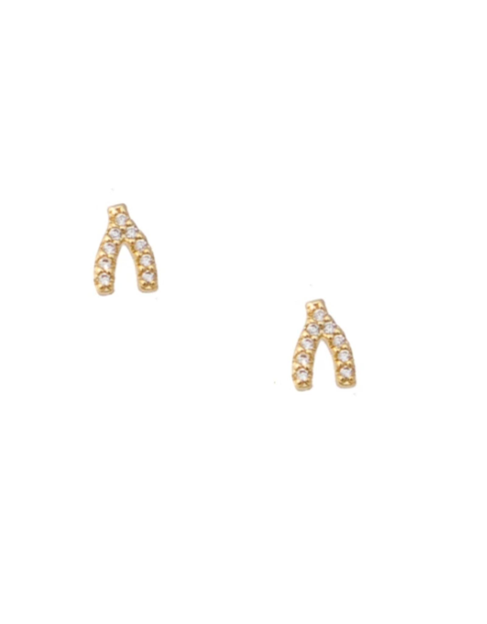Wishbone Stud Earrings