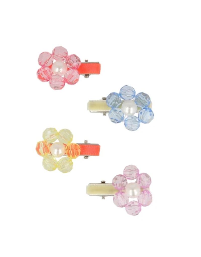 Flower Jewel Hair Clips