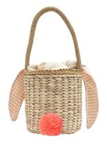 Gingham Bunny Straw Bag