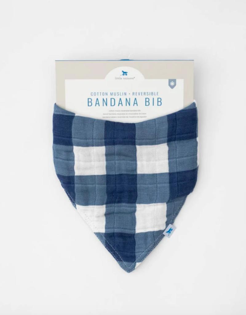 Cotton Muslin Reversible Bandana Bib - Jack Plaid