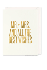 Mr. + Mrs. and All the Best Wishes Card