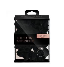 Black Satin Sleep Scrunchies