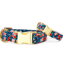 Inky Blooms Dog Collar