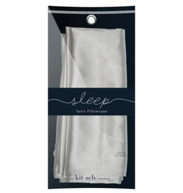 Silver Satin Pillowcase