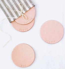 Delish Leather Coasters - Set of 4