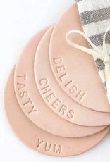 Delish Leather Coasters - Set of 4