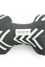 Modern Mud Cloth Dog Black Squeaky Toy