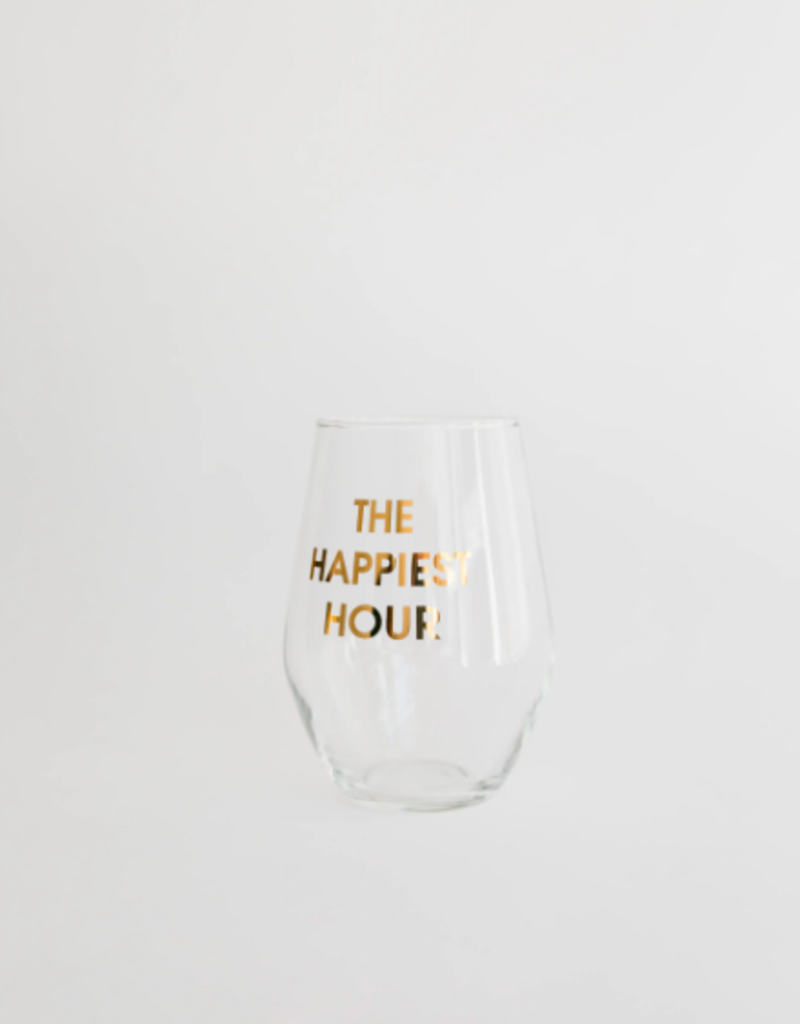 The Happiest Hour Wine Glass