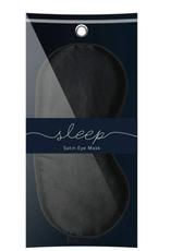 Black Satin Eye Mask