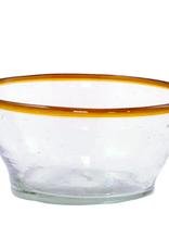 Small Amber Rim Bowl