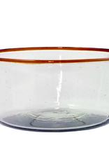 Large Amber RIm Bowl
