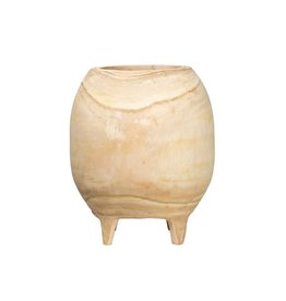 Footed Paulownia Wood Planter
